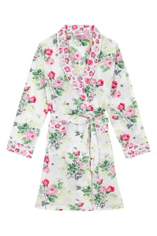 Cath Kidston® White Belsize Bouquet Dressing Gown