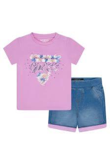 Guess Baby Girls Pink Cotton Set