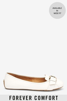 Buckle Square Toe Ballerinas