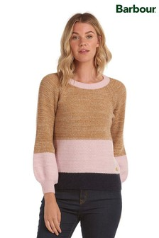 Barbour® Coastal Camel Pink Panel Relaxed Fit Murrelet Jumper