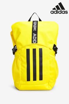 adidas Yellow Athletics 3 Stripe Backpack