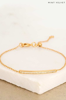 Mint Velvet Gold Plated Bar Bracelet