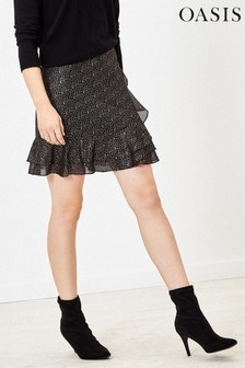 Oasis Black Spot Mini Skirt