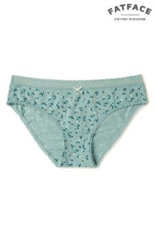 FatFace Green Kara Floral Mini Brief