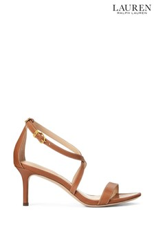 Ralph Lauren Leather Strappy Leaton Sandals