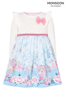 Monsoon Baby Tea Party 2-in-1 Dress In Organic Cotton