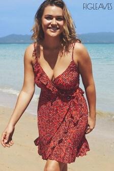 Figleaves Mala Cami Midi Wrap Animal Print Dress