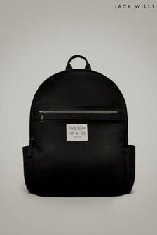 Jack Wills Black Portbury Backpack