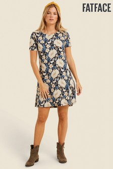 FatFace Blue Simone Autumn Blooms Dress