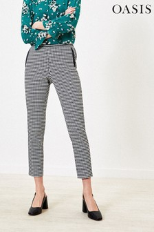 Oasis Natural Dogtooth Trousers