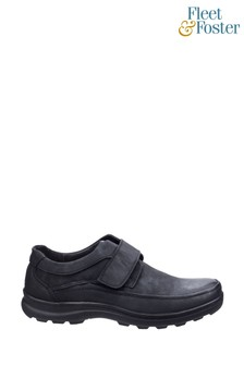 Fleet & Foster Black Hurghada Touch Fastening Shoes
