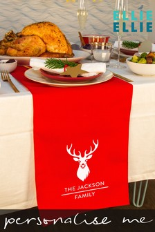 Personalised Stag Head Table Runner by Ellie Ellie