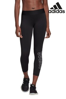adidas Black Alphaskin Brand Leggings