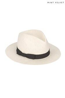 Mint Velvet Cream Panama Hat