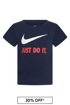 Baby Boys Navy Cotton T-Shirt