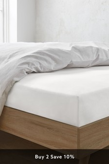 Washed Organic Cotton Deep Fitted Fitted Sheet