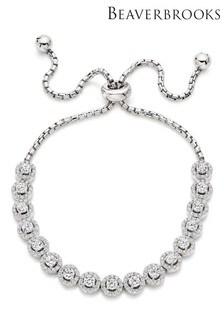 Beaverbrooks Silver Cubic Zirconia Bracelet