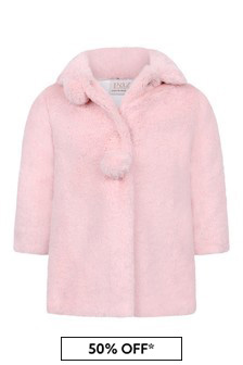 Baby Girls Pink Faux Fur Coat