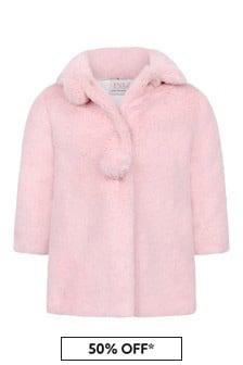 Paz Rodriguez Baby Girls Pink Faux Fur Coat