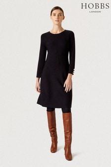 Hobbs Blue Cora Knitted Dress
