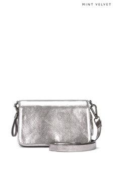Mint Velvet Fifi Gunmetal Camera Bag