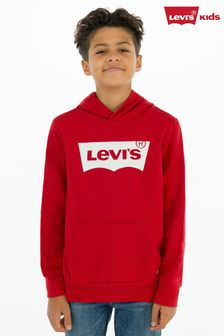 Levi's® Kids Red Batwing Screenprint Hoody