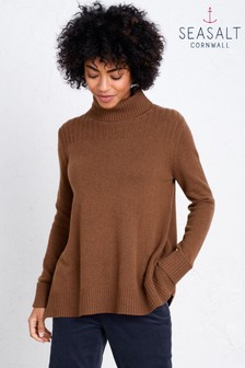 Seasalt Brown Soda Ash Jumper