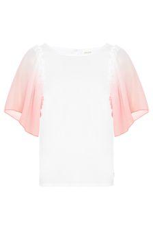 Carrement Beau Girls White Cotton T-Shirt