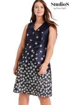 Studio 8 Blue Laurie Jacquard Dress