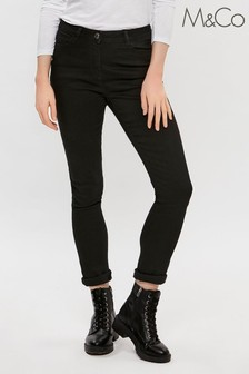 M&Co Black Basic Slim Jeans