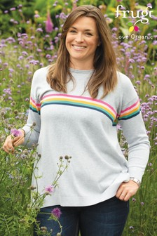 Frugi Organic Breastfeeding Rainbow Jumper