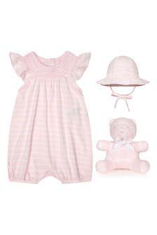 Ralph Lauren Kids Baby Girls Pink Cotton Romper