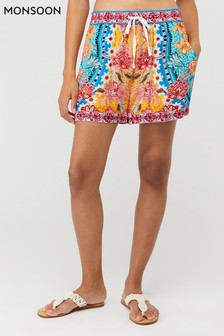 Monsoon Orange Talia Printed Shorts