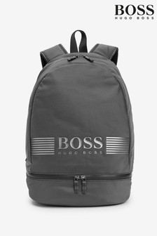 BOSS Grey Pixel Structured Backpack