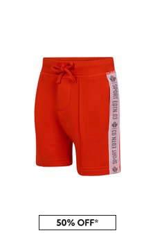 Dsquared2 Kids Boys Orange Cotton Shorts