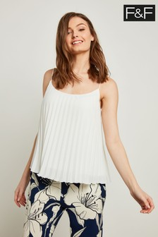 F&F Ivory Pleated Cami