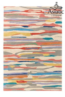 Matrix Abstract Lines Wool Rich Rug by Asiatic Rugs