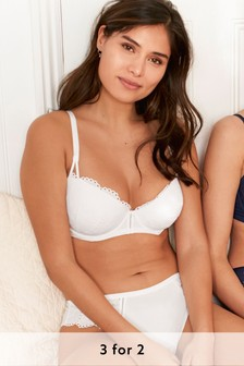 Organic Cotton Blend Broderie Knickers