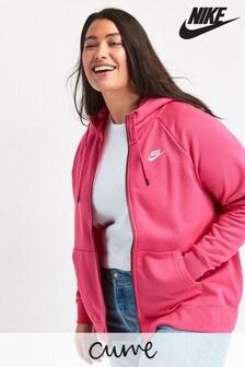 Nike Curve Pink Essential Zip Through Hoody