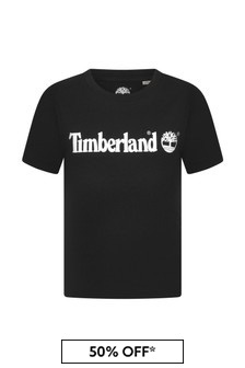 Timberland Black Cotton T-Shirt