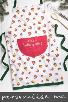 Personalised Pudding Up With It Apron