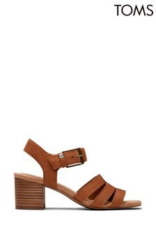 TOMS Tan Leather/Suede Estella Sandals