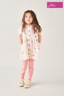 Joules Pink Liddie Button Through Smock Dress