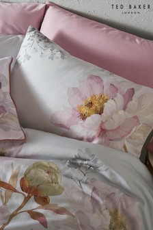 Set of 2 Ted Baker Butterscotch Floral Cotton Pillowcases