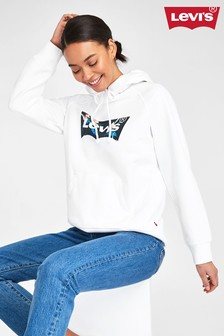 Levi's® White Floral Batwing Hoody