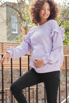 Maternity Ruffle Sweat Top