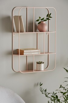 Pink Contemporary Wire Shelf