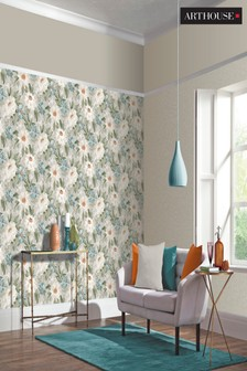 Arthouse Painted Dahlia Floral Wallpaper