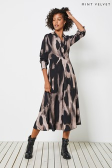 Mint Velvet Nova Print Twist Shirt Dress