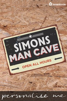Personalised Vintage Man Cave Sign by Loveabode